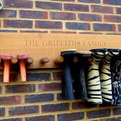 Giving a gift that means that your home will be tidier is sometimes all you want on Mothers Day. This solid oak welly boot rack can also be personalised to make it look ever so posh in your family home!