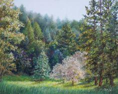 Original Pastel Landscape 8 X 10 by Jen Elliott on FB at: Spirit Enchantress