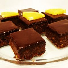 Pomarančové brownies s extra čokoládovou polevou