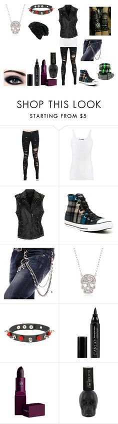 """Emo outfit #85"" by in-seva on Polyvore featuring Vince, MuuBaa, Converse, Ross-Simons, CARGO and Lipstick Queen"