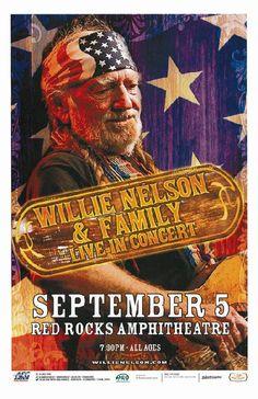 Concert poster for Willie Nelson