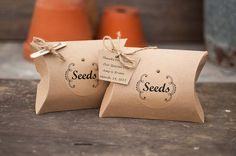 Cajas de la almohadilla de Kraft contiene 3 por TheWeddingMarket