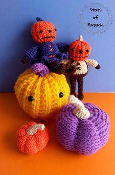 Familia Calabaza Halloween Amigurumi Sr y Sra Calabaza   Etsy