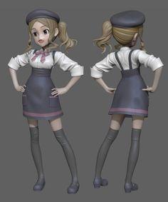 3d anime ZBrush girl