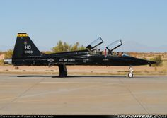 USAF Northrop T-38A Talon, 67-14833. Alamogordo - Holloman AFB (HMN / KHMN) - USA. October 27, 2007. The 49th FW used those black Talons for training to keep precious hours on the F-117As left.