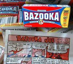 kauwgom Bazooka Joe.