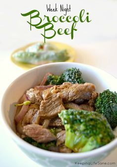 I love getting take-out, but it can get really expensive for the entire family. You can make your own week night broccoli beef in just few minutes. Week Night Broccoli Beef