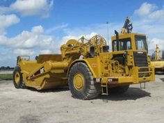 Price: $73,000  1994 CATERPILLAR MOTOR SCRAPER, ENCLOSED CAB, A/C, HEATER, CATERPILLAR 3406 ENGINE, TURBOCHARGED, AFTERCOOLER, PUSH BLOCK, CUSHION HITCH, VERY GOOD CONDITION, STRONG ENGINE, NO LEAKS, GOOD BRAKES, READY TO WORK . Used Construction Equipment, Truck Mechanic, Caterpillar Equipment, Diesel Trucks, Heavy Equipment, Big Trucks, Toys For Boys, Tractors, Monster Trucks