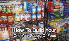 How To Build Your One Year Supply Of Food. Every one's storage plan should include bulk food storage items, for example, oats, rice, salt, etc