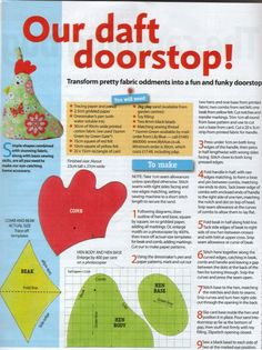 Pattern & instructions from Womens Weekly