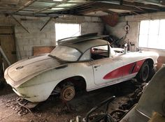 210 Best Barn Finds Field Cars And Garaged Corvettes Ideas Barn Finds Corvette Barn Find Cars