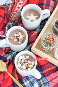 Hot chocolate bar - fun for a winter day