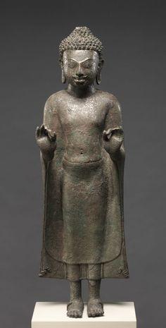 Buddha Preaching Buddha Preaching Date: century Culture: Northeastern Thailand Buddha Art, Buddha Statues, Standing Buddha Statue, Art Thai, Sculpture Images, The Bible Movie, Ancient Indian Art, Thailand Art, African Art