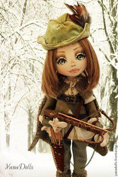 Три орешка для Золушки - хаки,кукла,авторская ручная работа,кукла в подарок