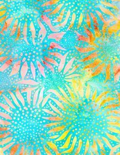 Bali Batik Fabric Sunflowers | Flickr - Photo Sharing!