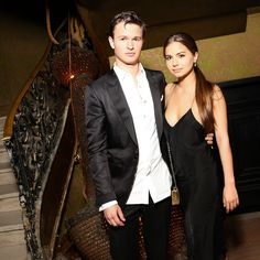 Ansel Elgort and his on-again girlfriend, Violetta Komyshan, posed inside Alexander Wang's afterparty.