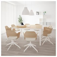 BEKANT conference table white – Tables and desk ideas At Home Furniture Store, Modern Home Furniture, Furniture Design, Ikea Bekant, Round Table Top, White Stain, Conference Table, Meeting Table, Office Interiors