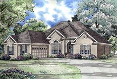 Elevation of European   Traditional   House Plan 62060