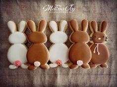 Easy Easter Bunny Cookies-Melissa Joy Cookies