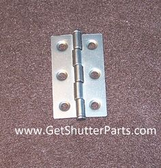 "Nickel Satin / Brushed Nickel Plantation Shutter Hinge    2 1/2"" X 1 1/2"""