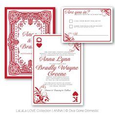 Playing Cards Invite Wedding Party Las Vegas Weddings Bling