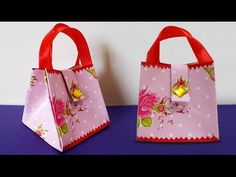 DIY Paper Crafts : How to Make Handmade Mini Paper Bag | DIY Projects - YouTube