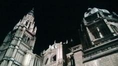 Espectáculo de luz y sonido en la Catedral de Toledo. Spain.