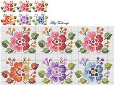 Çiçekli bordürlere devam. Hangisini isterseniz...Designed by Filiz Türkocağı