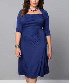 Look at this #zulilyfind! Blue Stella Dress - Plus #zulilyfinds