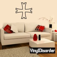 Cross Wall Decal - Vinyl Decal - Car Decal - DC014