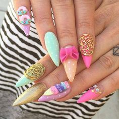 yay or nay for these? #nailart #manicure - http://ift.tt/1HQJd81