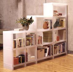 45 Best Smart Living Room Storage Ideas - Home Decor & Design Bookshelf Room Divider, Living Room Shelves, Living Room Storage, Living Room Decor, Bedroom Storage, Library Bookshelves, Diy Bookcases, Bedroom Shelves, Living Room Ideas