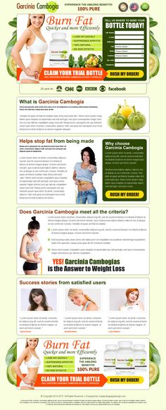 Below is a garcinia cambogia weight loss lead capture landing page design templates to capture quality leads for your weight loss product fr...