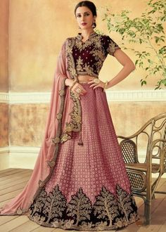 d5c5dafa0a Magnificent Pink Color Jacquard Silk Zari Work Wedding Wear Lehenga  Magnificent Pink Color Jacquard Silk Zari Work Wedding Wear Lehenga Dress  up yourself in ...
