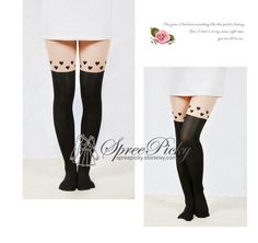 Fake Over-the-knee hearts stockings tights socks pantyhose SP130037