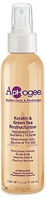 Aphogee Keratin & Green Tea Restructurizer is the ultimate one-step strengthening treatment. This one step formula combines the strengthening properties of keratin protein with the antioxidant benefit