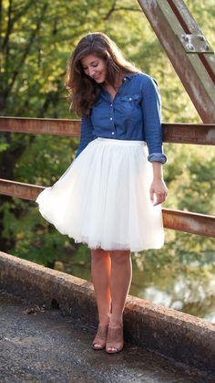 Ballerina Dreams Tulle Skirt #IDoDeclareBoutique #tulle #tulleskirt #creamtulleskirt
