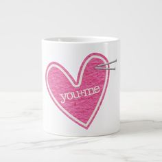 40% off with code COZYUPSALE17 Valentine's Day Heart Jumbo Mug