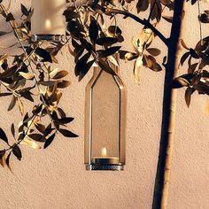 Lanterne En Verre Transparent Gris Fumé Blanc Eva Solo JardinChic