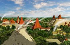 The Mayan citadel of Tikal in Petén by Julián González Mayan History, Nazca Lines, Mayan Cities, Mesoamerican, Mayan Ruins, Fantasy Inspiration, Environmental Art, Ancient Civilizations, Ancient Art