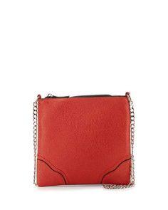 V2YV0 GX by Gwen Stefani Heaven Chain-Strap Crossbody Bag, Orange Matte