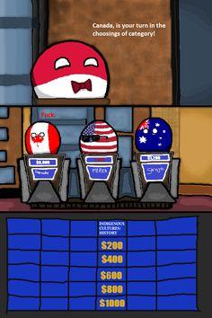 Anglo Game Show ( Poland, Canada, USA, Australia ) by cupstard  #polandball #countryball