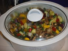 Freeze Your Way Fit: Clean Eating Crockpot Rosemary Balsamic Glazed Chicken with Squash and Roasted Garlic