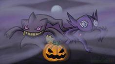 Have a Banette-Sableye Halloween by issabissabel on deviantART