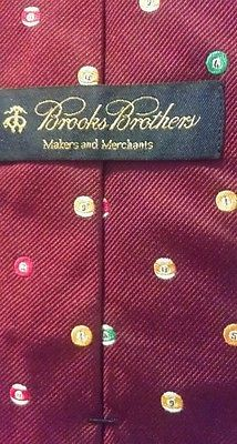 Brooks Brothers Novelty Neck Tie Colorful Billiard Balls SOLD