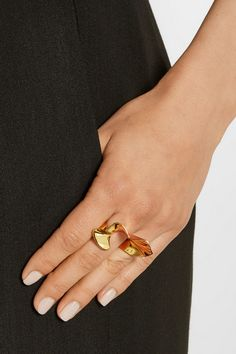 Arme De L'Amour | Ruffle gold-plated ring | NET-A-PORTER.COM