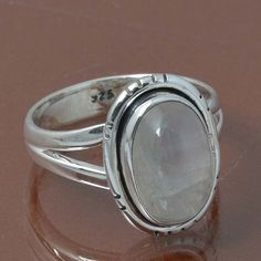 RAINBOW MOONSTONE 925 STERLING SILVER RING JEWELRY 4.01g DJR7022 SIZE 6 #Handmade #Ring