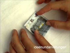 Geldscheine Falten: Blume - Idee zum Geldgeschenke basteln - YouTube