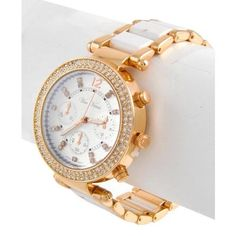 Gold and White Acrylic Watch