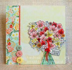 Katrina's Crafting Blog: using Floral Bouquet by Sheepski designs